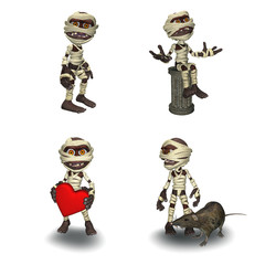 Little Mummy in 4 Poses