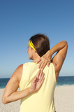 Mature woman healthy lifestyle beach