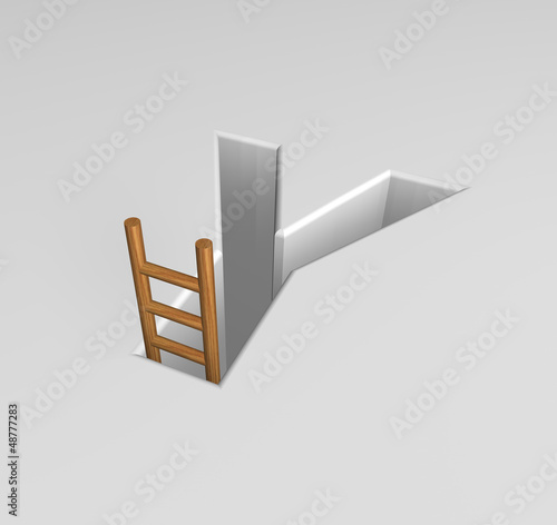 letter y and ladder