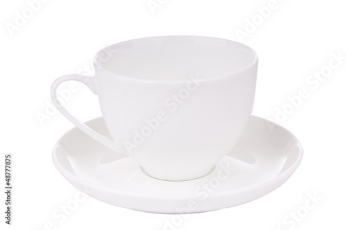 White Teacup with Clipping Path