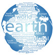 Global earth world word cloud tags