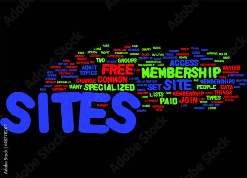 The Different Types of Membership Sites concept