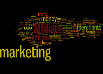 Affiliate Marketing 297 Concept