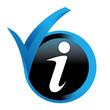 informations sur bouton validé bleu