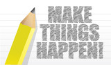 make things happen on a note pad background