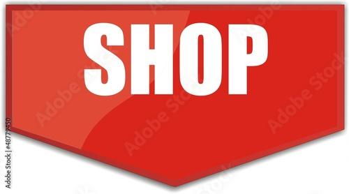 étiquette shop