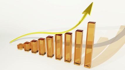 бизнес график рост прибыли