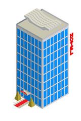 Isometric hotel icon