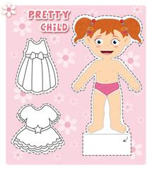 bambina da vestire