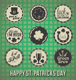 Vector Set: Vintage St. Patrick's Day Labels and Icons