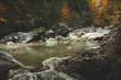Mountain river during autumn
