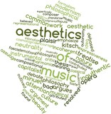 Word cloud for Aesthetics of music poster