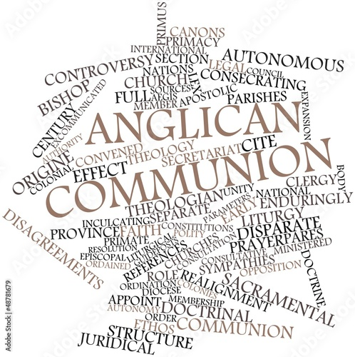 Word cloud for Anglican Communion