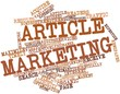 Word cloud for Article marketing