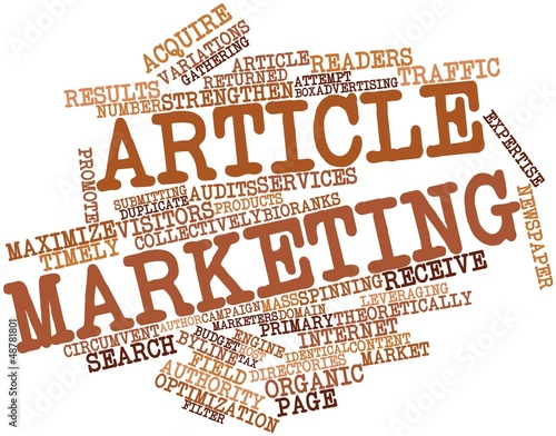 Leinwandbild Motiv Word cloud for Article marketing