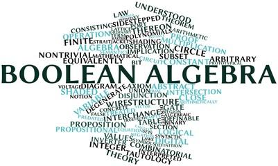 Word cloud for Boolean algebra