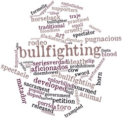 Word cloud for Bullfighting
