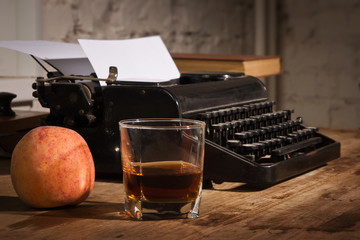 Vintage still life with typewriter