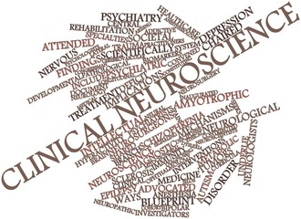 Word cloud for Clinical neuroscience