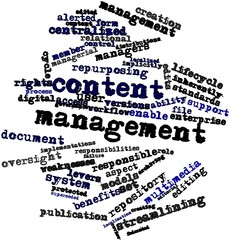 Word cloud for Content management