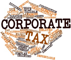 Word cloud for Corporate tax