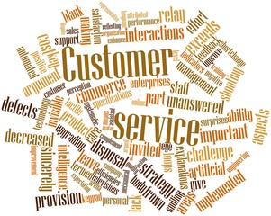 Word cloud for Customer service