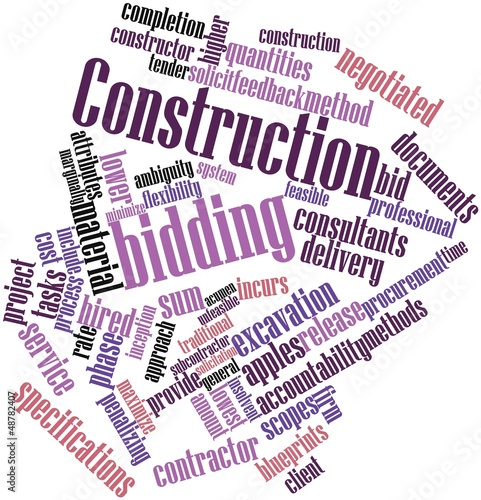 Word cloud for Construction bidding
