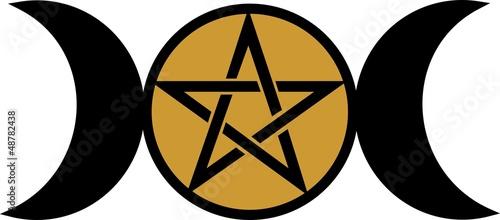 Wicca Mond - Pentakel - Pentagramm - Göttin Symbol