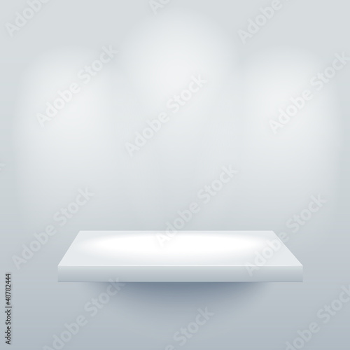 Empty shelf. Vector illustration