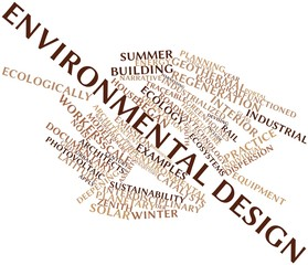 Word cloud for Environmental design