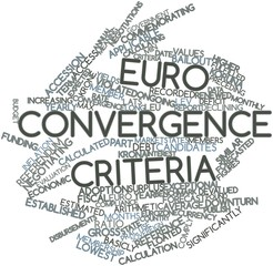 Word cloud for Euro convergence criteria