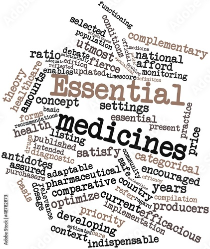Word cloud for Essential medicines