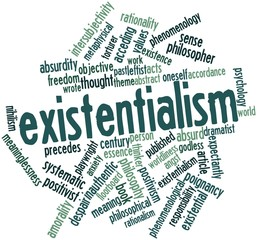 Word cloud for Existentialism