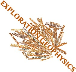 Word cloud for Exploration geophysics