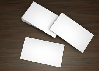 Blank businesscards