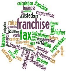 Word cloud for Franchise tax