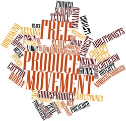 Word cloud for Free produce movement