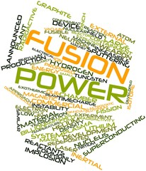 Word cloud for Fusion power