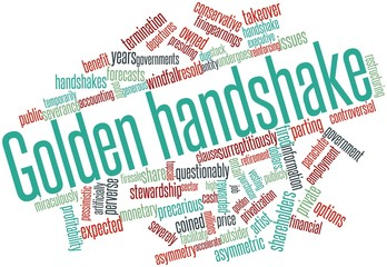 Word cloud for Golden handshake