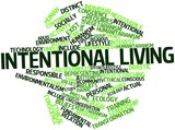 Word cloud for Intentional living
