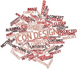 Word cloud for Icon design