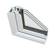 UPVC triple glazing cross section