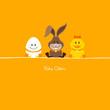 Ei, Hase & Ente orange