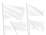 White vector flags