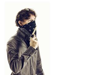 Bandit with Mask and Guns