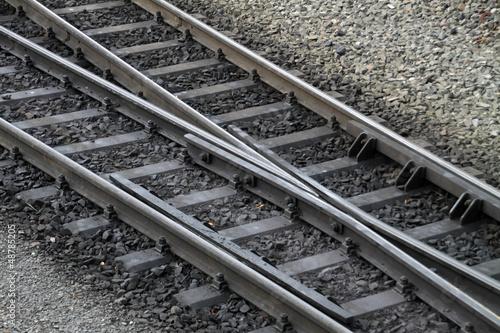 Schienen der Harzer Schmalspurbahn