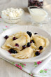 Dumplings with cottage cheese and black-currant