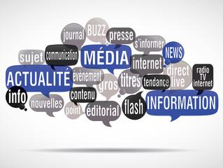 nuage de mots bulles : actualité média