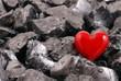 Herz auf  Steinen