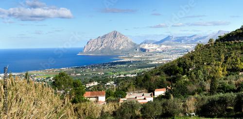 panoramica di San Vito Lo Capo visto a Erice a Trapani
